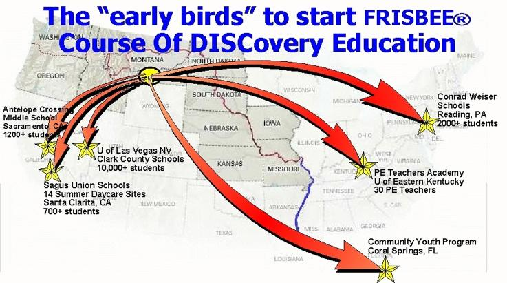 Places to use the total Course Of DISCovery Education Program